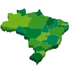 ブラジル 地図 3D