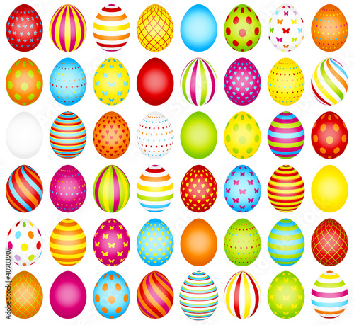 48 Easter Eggs Pattern