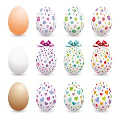 Œufs de Pâques motifs variés-1