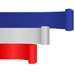 Banner mit französischen Farben