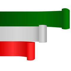 Banner mit italienischen Farben