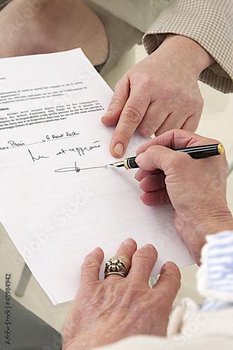 """""""Lu et  approuvé"""" - Signature"""