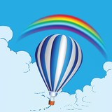 Balloon and rainbow