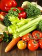 Frisches Gemüse - Hochformat