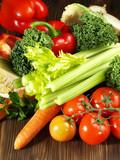 Fototapety Frisches Gemüse - Hochformat