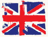 Fototapety UK paint flag