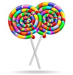 Lollipop Rainbow Colors-Lecca Lecca Chupa Chupa Arcobaleno