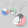 Set of tags with cute sheep.Vector illustration.