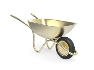 Golden wheelbarrow