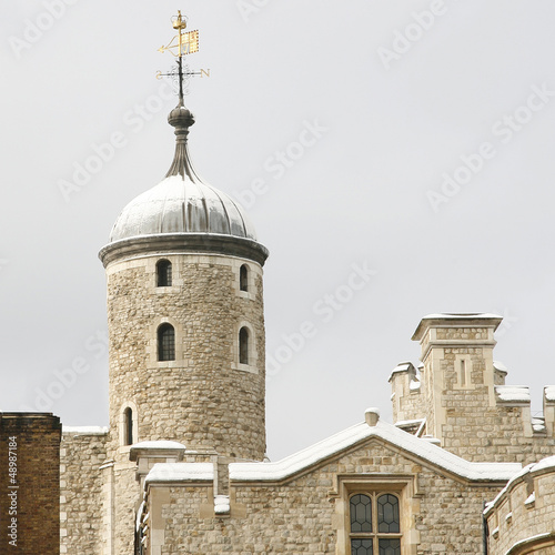 Snow covered Tower of London