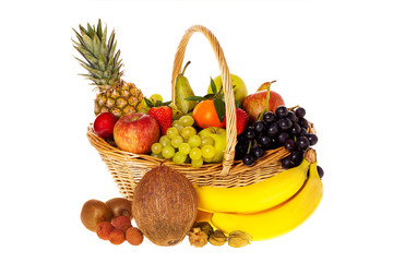 Viele frische Früchte