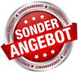 """Button Banner """"Sonderangebot"""" rot/silber"""