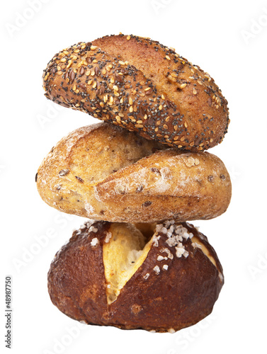 stack of healthy bread isolated