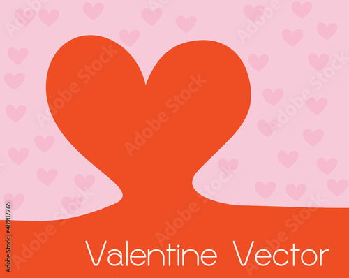 Valentine Heart  Background with copywriting space