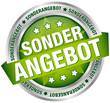 "Button Banner ""Sonderangebot"" grün/silber"