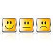 Smiley Buttons Quadratisch