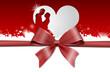 Hochzeitskarte mit Herzen