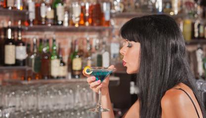 Lady Enjoying Her Martini