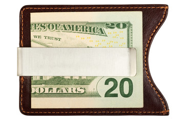 Dollars in money clip.