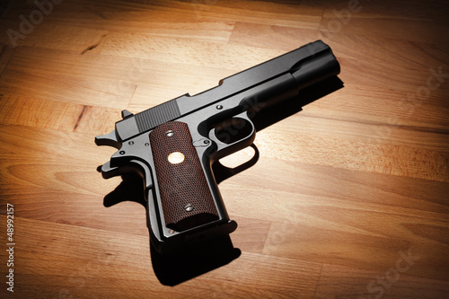 Semi-automatic .45 caliber  pistol
