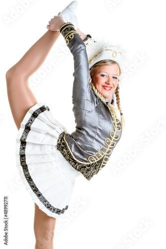 Akrobatische Gardetänzerin