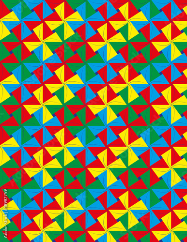 Colorful whirligig seamless pattern