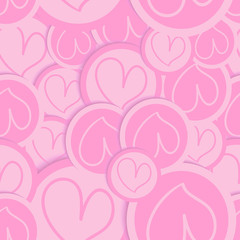 Valentine love heart pattern