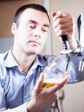 barman draft beer