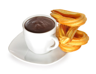 Chocolate con churros.