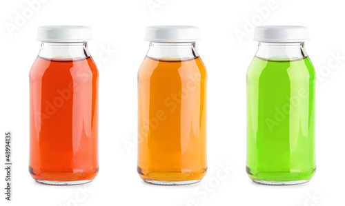 Fruit juices glass bottle