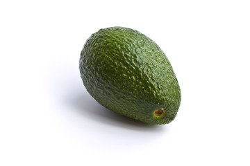 Organic Avocado on white background