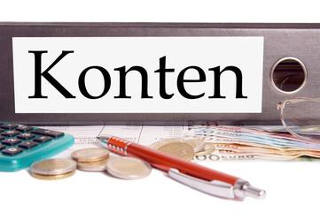Aktenordner - Konten