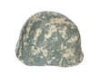 Kevlar helmet acu camouflage isolated on white