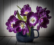 tulips in vase - vintage style