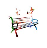 Colorful vector bench
