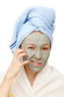 The clay facial mask treatment and beauty secrets