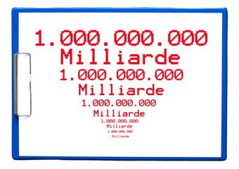 Milliarden verschwinden