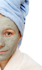 the beneficial effect on the skin of the clay