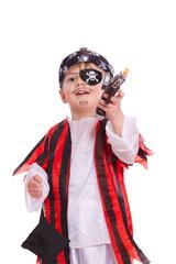 Pirat schaut nach oben