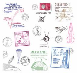 Poststempel aus en USA zum Thema Weltraum