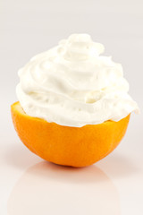 Orange with cream