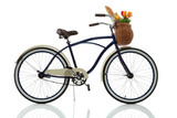 Fototapety Beach cruiser with basket side view