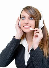smiling attractive online agent