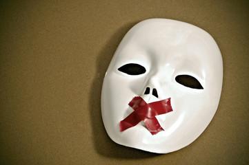 silent white mask