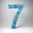 The number seven made out of small number sevens