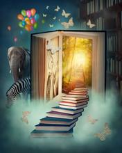 En trappa upp till det magiska landet