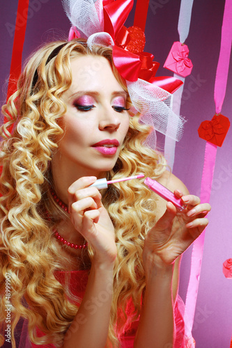 stylish valentine woman