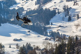 A Helicopter In Swiss Alps