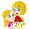 Mother's Day,Mother and daughter -blonde-