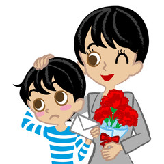 Mother's Day,Mother and son,Asian